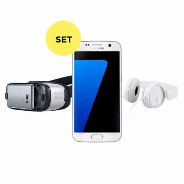 Samsung Galaxy S7 + GearVR2 + Kopfhörer Set mieten