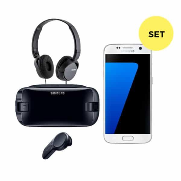 Samsung Galaxy S7 + GearVR4 + Kopfhörer Set mieten