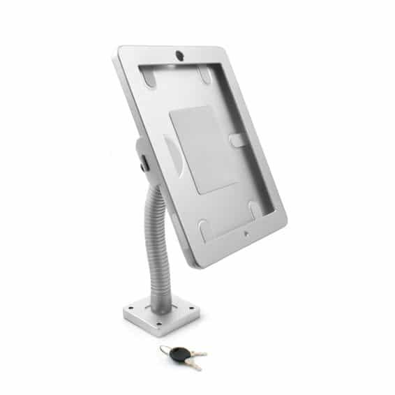 Tablet Wandhalterung mit Schwanenhals kompatibel mit Apple iPad - Für Messen und Events zumieten
