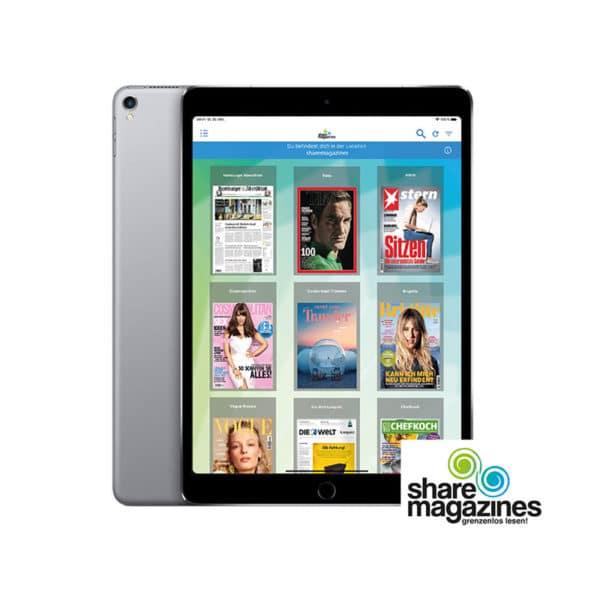 Sharemagazines App mit iPad von fonlos mieten