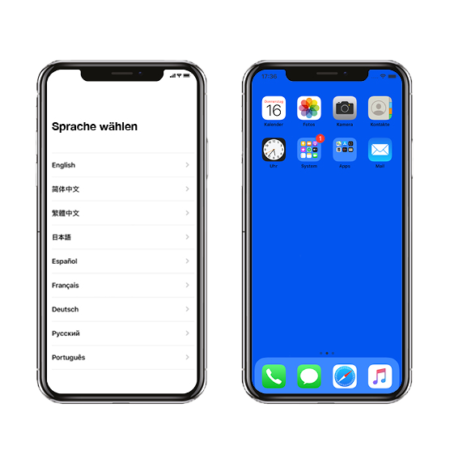 Software Konfiguration iPhone