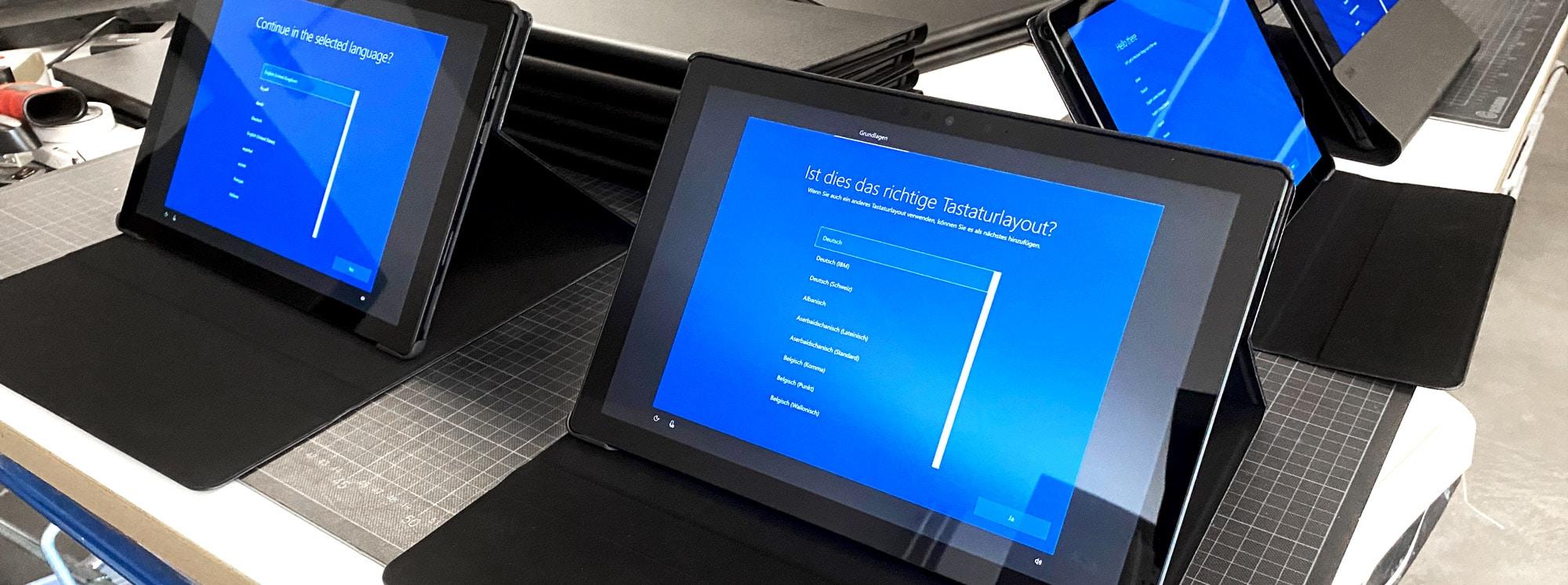 Tablets in Software Konfiguration